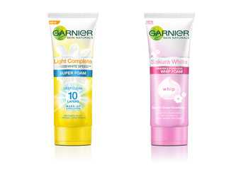 卡尼爾 - 「櫻花透白洗顏慕斯」、「專業美白超淨化洗面乳」全新上市