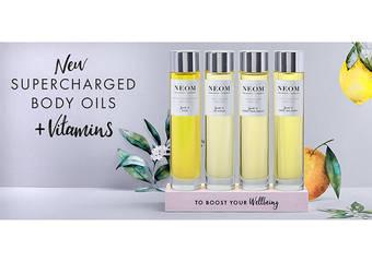 NEOM - 極致尊寵香氛美學,訂製肌膚療癒處方「身體舒緩油」2018年11月上市
