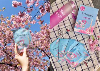 Bonjour Paris!獻上來自巴黎的櫻花季 我的美麗日記「櫻花淨白柔嫩面膜」,水潤透亮限量上市