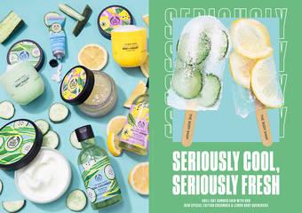 讓肌膚嚐一口清爽冰涼的「蔬果」吧!【小黃瓜&檸檬舒活身體系列】沁涼上市