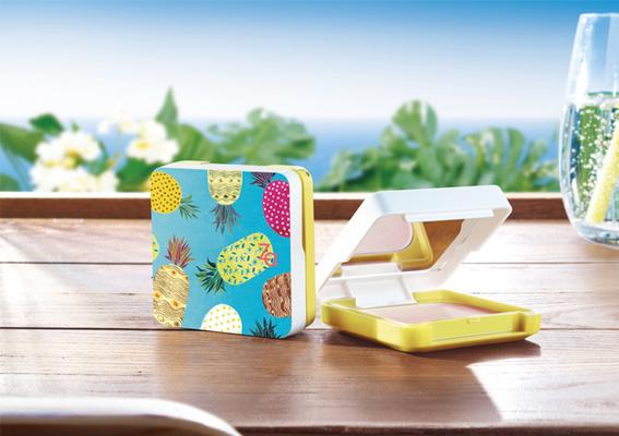 開架銷售No.1百萬明星粉餅 贈台灣特產鳳梨設計粉盒