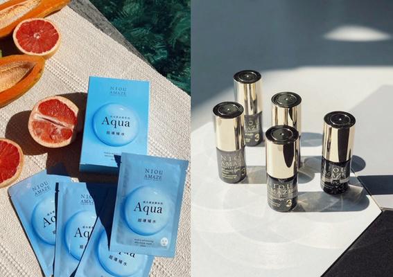 一擦就被肌膚秒吸收!紐奇肌「#小灰瓶」業界獨家專利技術,搭配「#Aqua保濕面膜」,喚回水光透亮肌