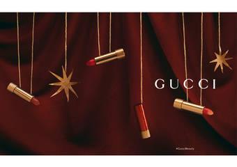 隆重呈獻GUCCI限量版【ROUGE À LÈVRES SATIN絲緞唇膏系列】與三款獨家鐫刻設計的紅色唇膏共賀農曆新年