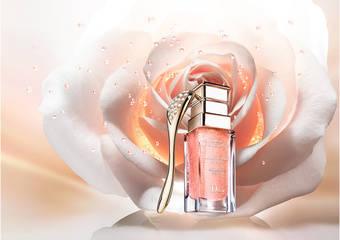 「迪奧精萃再生玫瑰微導精露」75ML升級容量新上市 奢寵玫瑰花瓣肌 「迪奧微導珍珠按摩壓勺」 居家花瓣美肌SPA 雙倍加乘保養功效