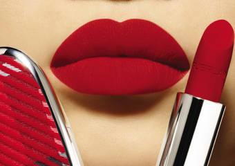 紅寶之吻高訂紅絲絨唇膏 全新15色絲絨奢華質地及6款限量彩殼 訂製你的法式紅唇 完美詮釋時尚風格